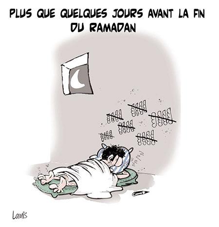 Plus que quelques jours avant la fin du ramadan - Dessins et Caricatures, Lounis Le jour d'Algérie - Gagdz.com