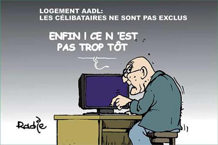 Logement AADL: Les célibataires ne sont pas exclus - Dessins et Caricatures, Ghir Hak - Les Débats - Gagdz.com