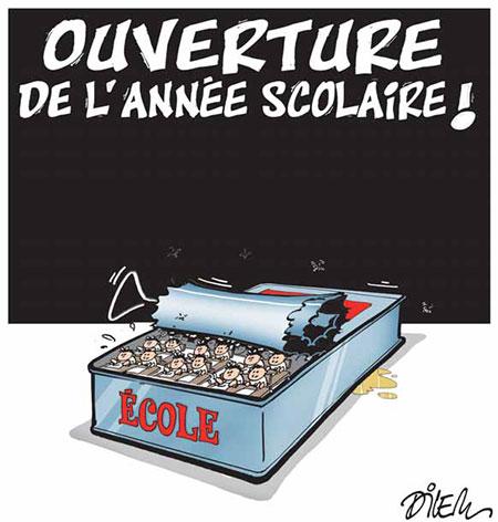 Ouverture de l'anée scolaire - Dessins et Caricatures, Dilem - Liberté - Gagdz.com