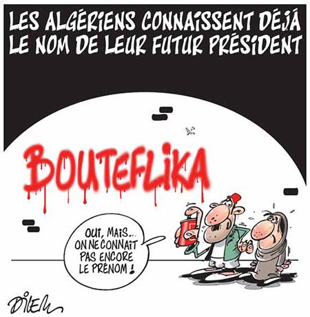 Les Algériens connaissent déjà le nom de leur futur président - Dessins et Caricatures, Dilem - Liberté - Gagdz.com