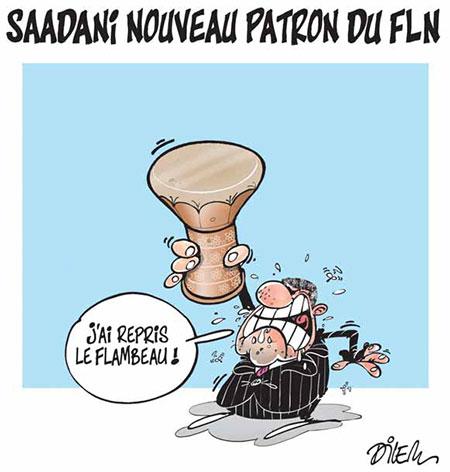 Saadani nouveau patron du FLN - Dessins et Caricatures, Dilem - Liberté - Gagdz.com
