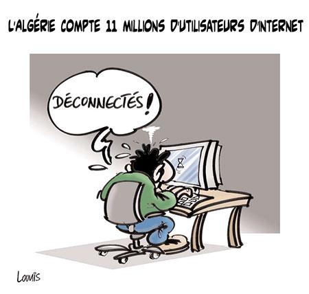 L'Algérie compte 11 millions d'utilisateurs d'internet - Dessins et Caricatures, Lounis Le jour d'Algérie - Gagdz.com