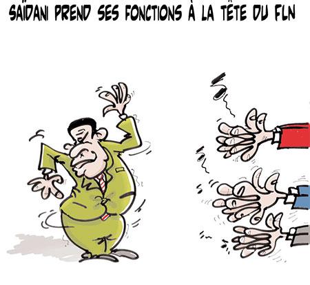 Saïdani prend ses fonctions à la tête du FLN - Dessins et Caricatures, Lounis Le jour d'Algérie - Gagdz.com