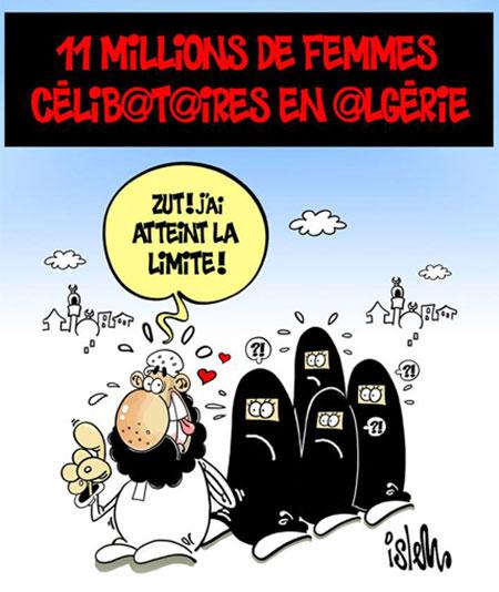11 millions de femmes célibataires en Algérie - Dessins et Caricatures, Islem - Le Temps d'Algérie - Gagdz.com