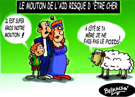 Le mouton de l'aïd risuque d'être cher - Belkacem - Le Courrier d'Algérie, Dessins et Caricatures - Gagdz.com