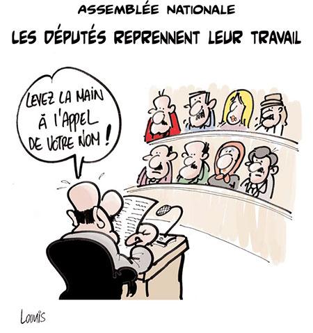 Assemblée nationale: Les députés reprennent leur travail - Dessins et Caricatures, Lounis Le jour d'Algérie - Gagdz.com