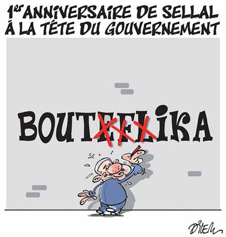 1er anniversaire de Sellal à la tête du gouvernement - Dessins et Caricatures, Dilem - Liberté - Gagdz.com