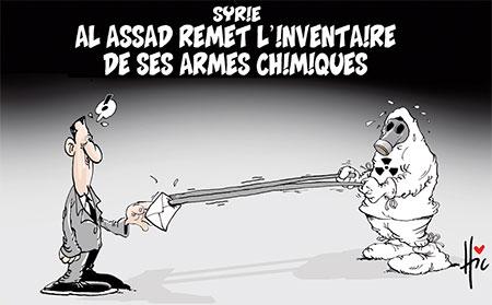 Al Assad remet l'inventaire de ses armes chimiques - Dessins et Caricatures, Le Hic - El Watan - Gagdz.com