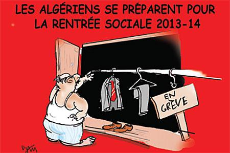 Les Algériens se préparent pour la rentrée sociale 2013-14 - Dessins et Caricatures, Jony-Mar - La voix de l'Oranie - Gagdz.com