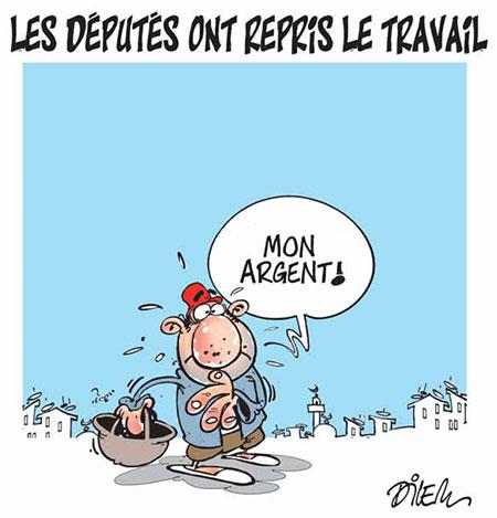 Les députés ont repris le travail - Dessins et Caricatures, Dilem - Liberté - Gagdz.com