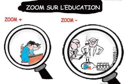 Zoom sur l'éducation - Dessins et Caricatures, Jony-Mar - La voix de l'Oranie - Gagdz.com