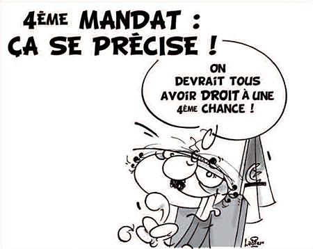 4ème mandat: Ca se précise - Dessins et Caricatures, Vitamine - Le Soir d'Algérie - Gagdz.com