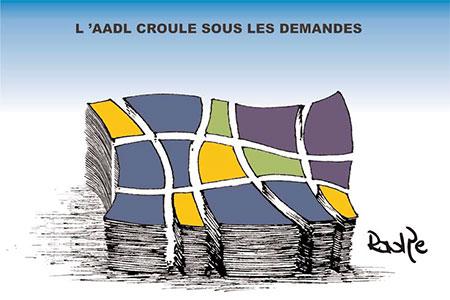 L'Aadl croule sous les demandes - Dessins et Caricatures, Ghir Hak - Les Débats - Gagdz.com