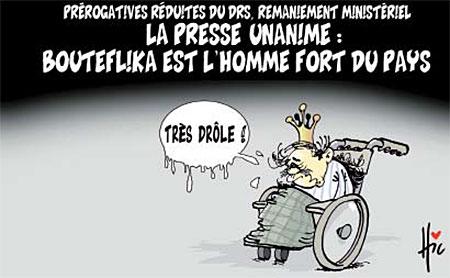 La presse unanime: Bouteflika est l'homme fort du pays - Dessins et Caricatures, Le Hic - El Watan - Gagdz.com