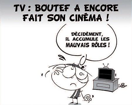 TV: Boutef a encore fait son cinéma - Dessins et Caricatures, Vitamine - Le Soir d'Algérie - Gagdz.com