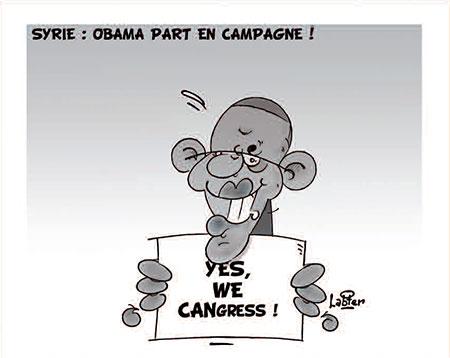 Syrie: Obama part en campagne - Dessins et Caricatures, Vitamine - Le Soir d'Algérie - Gagdz.com