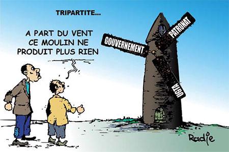 Tripartite - Dessins et Caricatures, Ghir Hak - Les Débats - Gagdz.com