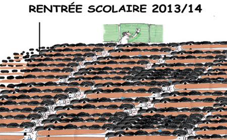 Rentrée scolaire 2013/14 - Dessins et Caricatures, Jony-Mar - La voix de l'Oranie - Gagdz.com