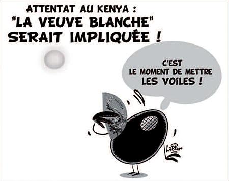 Attenta au Kenya: La veuve blanche serait impliquée - Dessins et Caricatures, Vitamine - Le Soir d'Algérie - Gagdz.com