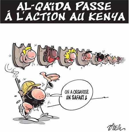 Al-quaida passe à l'action au Kenya - Dessins et Caricatures, Dilem - Liberté - Gagdz.com