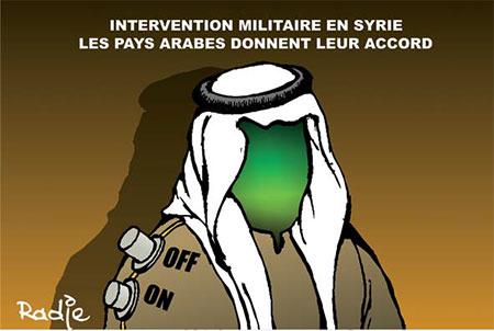 Intervention militaire en Syrie: Les pays arabes donnent leur accord - Dessins et Caricatures, Ghir Hak - Les Débats - Gagdz.com