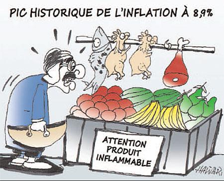 Pic historique de l'inflation à 8,9% - histoire - Gagdz.com