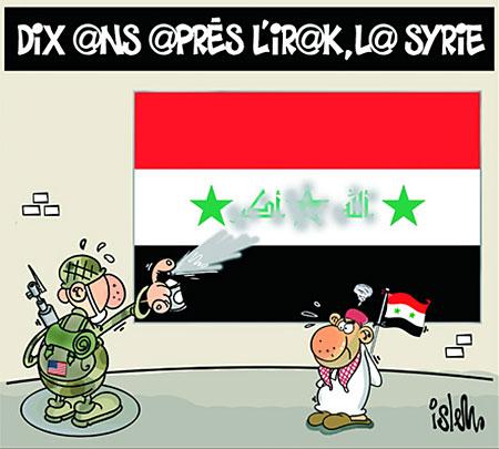 Dix ans après l'Irak, la Syrie - Dessins et Caricatures, Islem - Le Temps d'Algérie - Gagdz.com