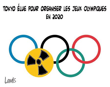 Tokyo élue pour organiser les jeux olympiques en 2020 - Dessins et Caricatures, Lounis Le jour d'Algérie - Gagdz.com