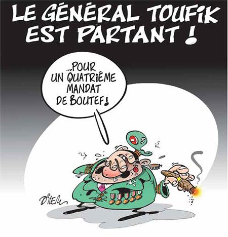 Le général Toufik est partant - Dessins et Caricatures, Dilem - Liberté - Gagdz.com