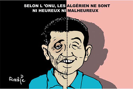 Selon l'onu, les Algériens ne sont ni heureux ni malheureux - Dessins et Caricatures, Ghir Hak - Les Débats - Gagdz.com
