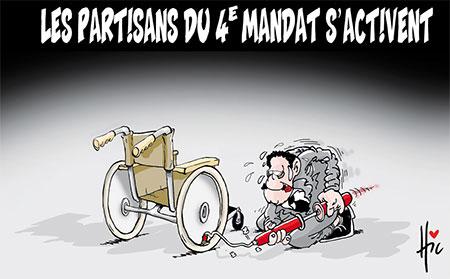 Les partisants du 4e mandat s'activent - Dessins et Caricatures, Le Hic - El Watan - Gagdz.com