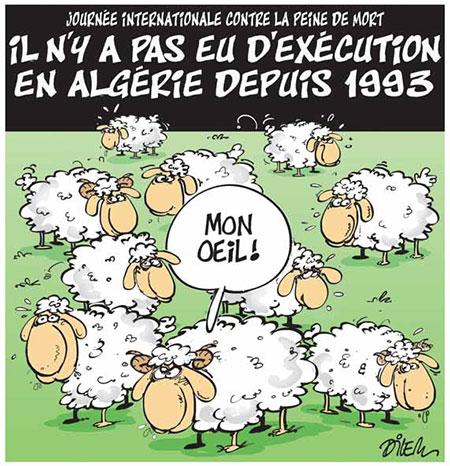Il n'y a pas eu d'execution en Algérie depuis 1993 - Dessins et Caricatures, Dilem - Liberté - Gagdz.com