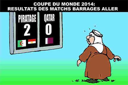 Resultat des matchs barrages aller - Dessins et Caricatures, Ghir Hak - Les Débats - Gagdz.com