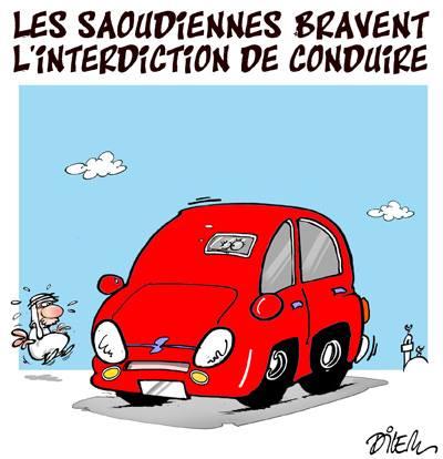 Les saoudiennes bravent l'interdiction de conduire - Dilem - TV5 - Gagdz.com
