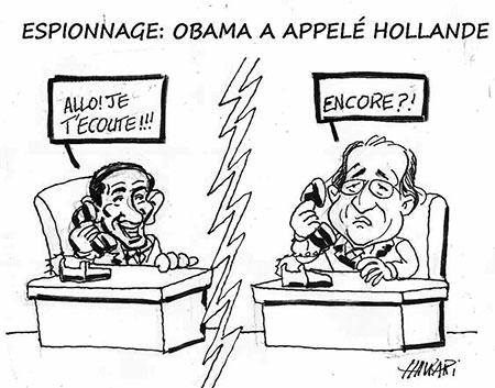 Espionnage: Obama a appelé Hollande - Dessins et Caricatures, Hawari - La Tribune des Lecteurs - Gagdz.com