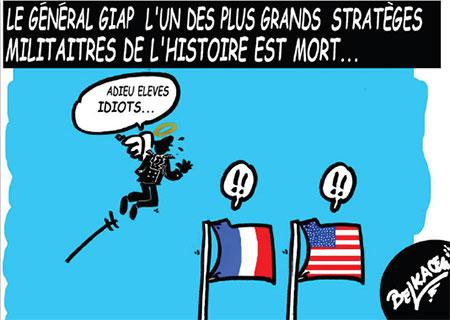 Le général Giap l'un des plus grands stratèges militaires de l'histoire est mort - Belkacem - Le Courrier d'Algérie, Dessins et Caricatures - Gagdz.com