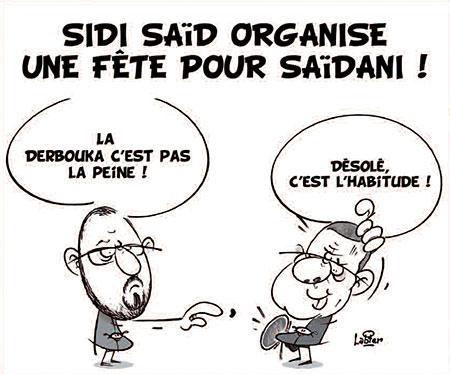 Sidi Saïd organise une fête pour Saïdani - Dessins et Caricatures, Vitamine - Le Soir d'Algérie - Gagdz.com