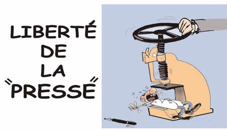 Liberté de la presse - Dessins et Caricatures, Jony-Mar - La voix de l'Oranie - Gagdz.com