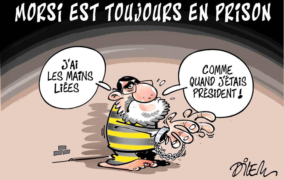 Morsi est toujours en prison - Dessins et Caricatures, Dilem - TV5 - Gagdz.com