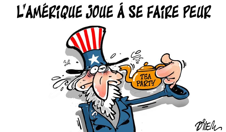 L'Amérique joue à se faire peur - Dessins et Caricatures, Dilem - TV5 - Gagdz.com