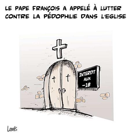 Le pape François a appelé à lutter contre la pédophilie dans l'église - Dessins et Caricatures, Lounis Le jour d'Algérie - Gagdz.com