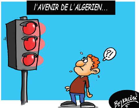 L'avenir de l'algérien - Belkacem - Le Courrier d'Algérie, Dessins et Caricatures - Gagdz.com