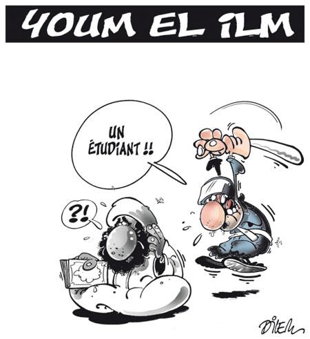 Youm el ilm - Dessins et Caricatures, Dilem - Liberté - Gagdz.com