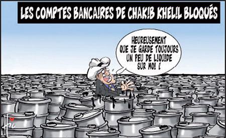 Les comptes bancaires de Chakib Khelil bloqués - Dessins et Caricatures, Le Hic - El Watan - Gagdz.com