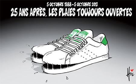 5 octobre 1988: 25 ans après, les plaies toujours ouvertes - Dessins et Caricatures, Le Hic - El Watan - Gagdz.com