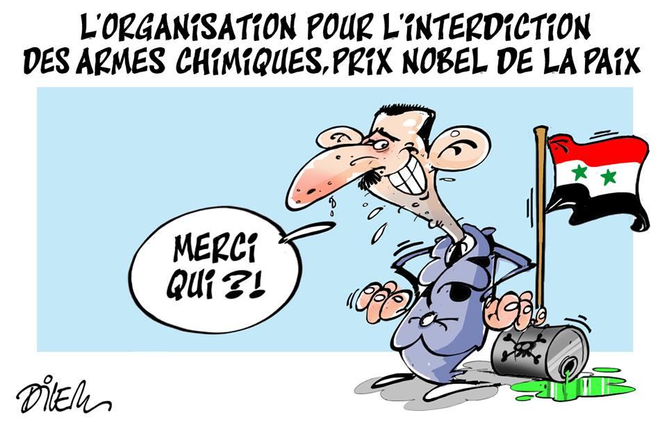 L'organisation pour l'interdiction des armes chimiques prix Nobel de la paix - Dilem - TV5 - Gagdz.com