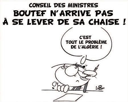 Conseil des ministres: Bouteflika n'arrive pas à se lever de sa chaise - Dessins et Caricatures, Vitamine - Le Soir d'Algérie - Gagdz.com