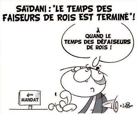 Saidani: Le temps des faiseurs de rois est terminé - Dessins et Caricatures, Vitamine - Le Soir d'Algérie - Gagdz.com