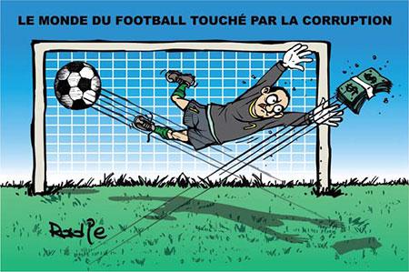 Le monde du football touché par la corruption - Dessins et Caricatures, Ghir Hak - Les Débats - Gagdz.com