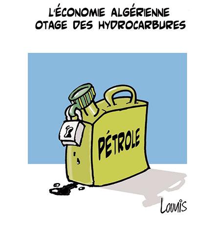 L'économie algérienne otage des hydrocarbures - Dessins et Caricatures, Lounis Le jour d'Algérie - Gagdz.com